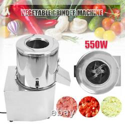 110V Electric Vegetable Chopper Stainless Steel Cutter Commercial Food Processor