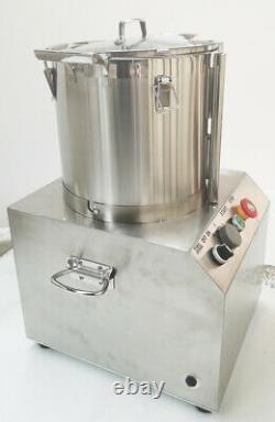 15L 110V Stainless Steel Electric Commercial Food Processor Chopper Grinder