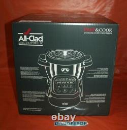 All Clad Prep And Cook Food Processor 4.7 Quart White HP503152 1400 Watt In Box