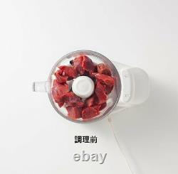 F/S NEW Panasonic Food Processor MK-K48P-W White from Japan Tracking Number