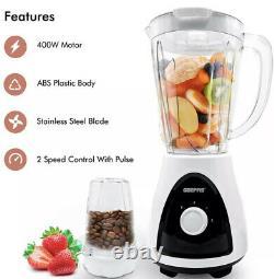 Geepas Food Processor Blender Chopper Mixer Coffee Spices Grinder Smoothie Maker