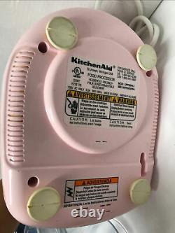 KichenAid Pink 12 Cup Food Processor KFP750PK3 Used Working