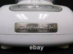KitchenAid 12 Cup Food Processor White KFP750 Manual Recipes Attachments 700W