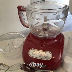 KitchenAid Food Processor KFP740QER1 RED 9 CUP Tested