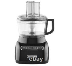 KitchenAid KFP0711OB 7-Cup Exact Slice Food Processor Onyx Black