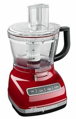 KitchenAid KFP1466ER 14-Cup Food Processor Exact Slice System Dicing Empire Red
