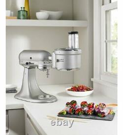 KitchenAid Refurbished Exact Slice Food Processor withDicing Kit Mixer Attachment