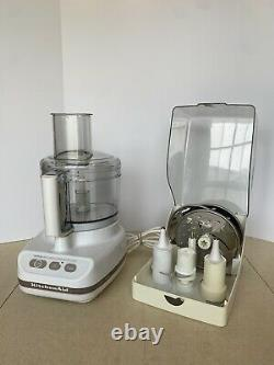 KitchenAid UltraPower 11 Cup Food Processor KFP600WH Attachments & Case Tested