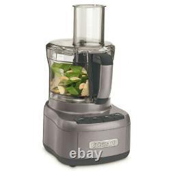 New Cuisinart Food Processor 8 Cup Gun Metal Grey