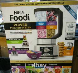 Ninja SS351TGT Foodi Power Pitcher 4in1 Food Processor 1400wp Gray Stainless