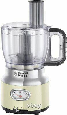 Russell Hobbs 25182-56 Retro Food Processor, Cream