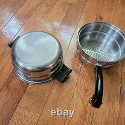 Saladmaster cookware 10 Piece Assorted Pots And Pans Steamer Double Boiler