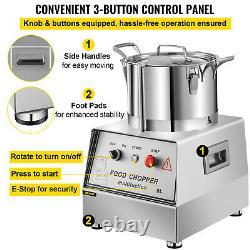 VEVOR 5L Food Processor Commercial Grade Food Meat Grinder Blender 5.3QT 550W