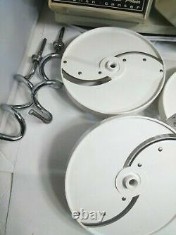 Vtg Oster Regency Kitchen Center Food Processor Mixer Meat Grinder WORKS