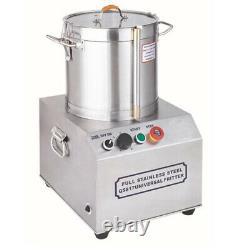 110v Acier Inoxydable 15l Processeur D'alimentation Électrique Commercial Machine Grinder Nouveau