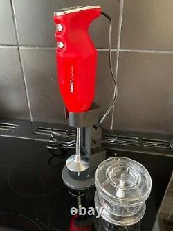 Bamix, Deluxe Hand Held Food Processor, Rouge, (prix Amazon £134.95)
