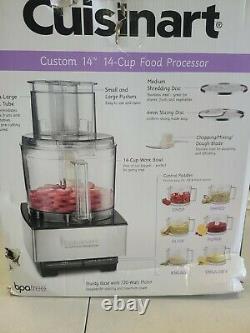 Boîte Ouverte Cuisinart 14 Tasses Processeur Alimentaire Pleine Taille
