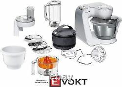 Bosch Mum58243 Robot Culinaire 3d Planetarymixing 1000w Blanc 3.9l Genuine New