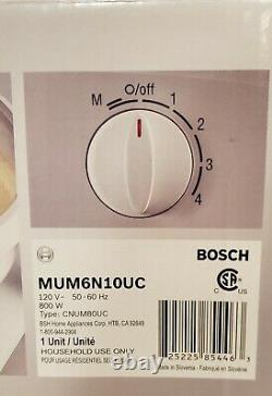 Bosch Universal Plus Mélangeur 800 Watt Avec Accessoires Mum6n10uc Extras Boîte D'origine