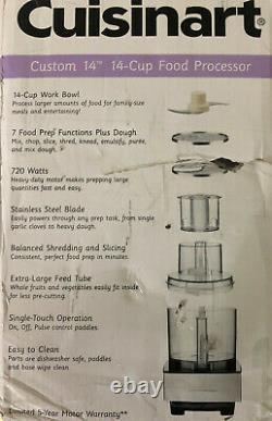 Cuisinart Dfp-14bcny 14 Tasses Processeur Alimentaire Complet