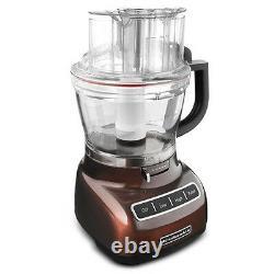 Kitchenaid Ajuster 13 Tasses Robot Culinaire Die Cast Metal Espresso Brown Kfp1344es