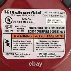 Kitchenaid Food Processor Kfp740qer1 Red 9 Cup Testé