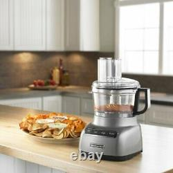 Kitchenaid R-kfp0711cu 7cup Processeur D'aliments Avec Système De Tranche Exacte Contour Argent