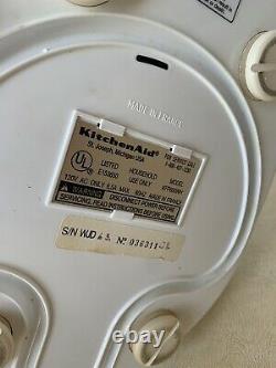 Kitchenaid Ultrapower 11 Tasse Processeur Alimentaire Kfp600wh Pièces Jointes Et Boîtier Testé