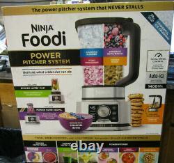 Ninja Ss351tgt Foodi Power Pitcher 4in1 Processeur Alimentaire 1400wp Gris Inox