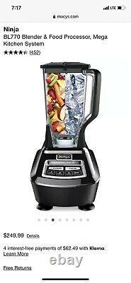 Système De Cuisine Ninja Mega (bl770) Mélangeur / Processeur D'aliments Avec 1500w Auto-iq