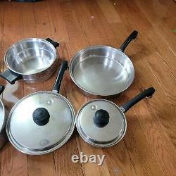 Ustensiles De Cuisine Saladmaster 10 Pièces Assortiment De Pots Et De Casseroles Chaudière Vapeur Double