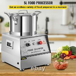 Vévor 5l Processeur D'aliments De Qualité Commerciale Mélangeur De Farine De Viande 5.3qt 550w