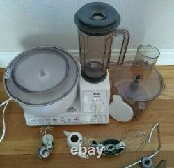 Vintage Bosch Mélangeur Universel De Mélangeur Processeur Alimentaire Mum 60 40 70 Avec Pièces Jointes