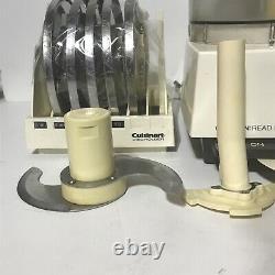 Vintage Cuisinart Dlc-7 Super Pro Food Processor Avec Accessoires Fabriqué Au Japon